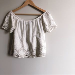 American Eagle Outfitters Tops - AEO off the Shoulder Cotton Top